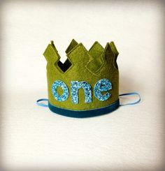 First Birthday Crown Boy Crown Headband LARGE - One Year Old Birthday Headband on Etsy, $27.69 CAD