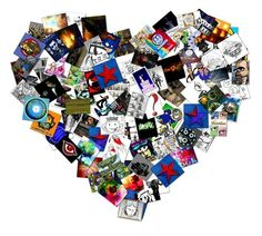 heart collage - could do with different kinds of papers