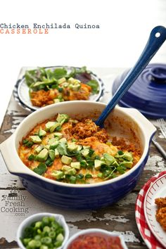 Chicken Enchilada Quinoa Casserole | FamilyFreshCooking.com