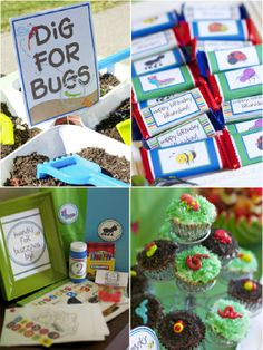 bug themed birthday party. would be so much fun for little boys!