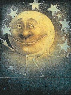 Moon and Stars.