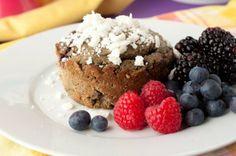 Grain-free Vanilla Berry Protein Cake