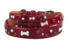 House of Dog Red Bones and Sprinkles Collar