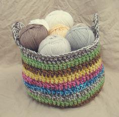 Crochet Yarn Basket | Gleeful Things