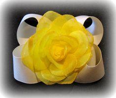 You Pick Color Shimmer Sparkle Rose Flower by MyBellaBellaBowtique, $5.99