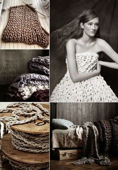Hand knitted pieces of art | by Jacqueline Fink (via Bloglovin.com )
