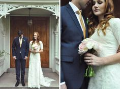 Modest wedding dress! Love this one with a peter pan collar.