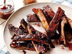 Neely's BBQ Pork Spare Ribs from FoodNetwork.com -  using this recipe for her mouth-watering BBQ Sauce - not method