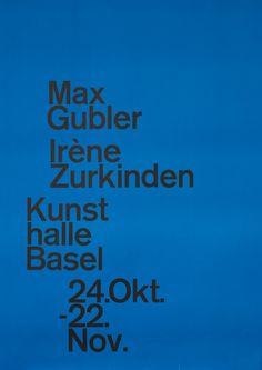 Armin Hofmann — Max Gubler, Irene Zurkinden - Kunsthalle Basel (1980)