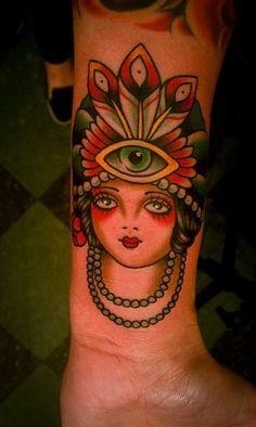 Genie girl tattoo. Paul Dobleman.