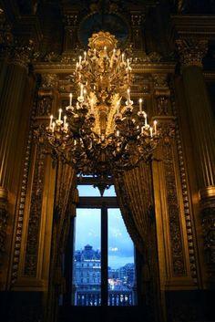 view from inside the palais garnier, paris *