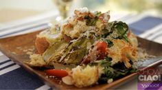 FABIO'S CAESAR SALAD: everything from scratch!  Full Video: http://yhoo.it/16A7hcw Text Recipe: http://yhoo.it/14BZJ93
