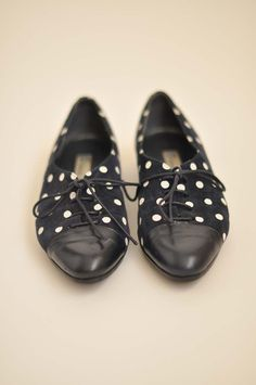 Navy Polka Dot Shoe.