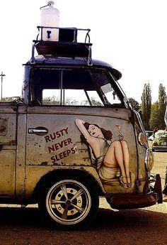 VW Bus Rat Rod