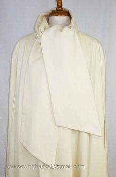 vintage Wool Cape in Winter White  Full by 2goodponiesvintage, $79.00