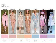 Fall/Winter 2014 Color Trends - Ladies soft tones