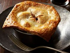 Beef Potpies With Cheddar-Stout Crust Recipe : Food Network Kitchens : Food Network - FoodNetwork.com