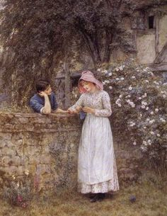 Over the Garden Wall - Helen Allingham