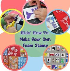 Make your own foam stamps for printmaking with your child! Our #LearningToolkit blog shows you how. Click for details.