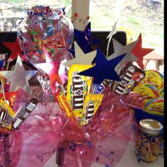 Candy Bar for a WWE birthday party.