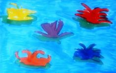 Water Flowers, Copic Sketch Markers, Copyright 2012 by A. Dameron 30 Days of Creativity 2012, Day 26