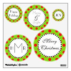 Fun, contemporary Christmas wall decals!