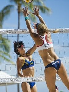 Hot beach body secrets from Kerri Walsh Jennings and other volleyball champs. #olympics #fitnessmagazine