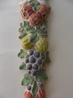 Vintage chalkware fruit wall hanging hand by DistinctiveByDesign, $45.00