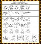 Halloween Patterns Math Worksheet and Halloween Song for Kids!