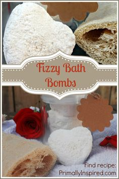 Fun and Healthy Valentine's Day DIY Gift! Fizzy Bath Bombs with Nourishing Ingredients! PrimallyInspired.com #diy
