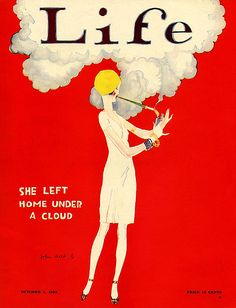 She Left Home Under a Cloud: 1925 Life Magazine...Flappers