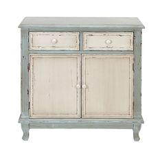 Distressed Finish Wood Cabinet.