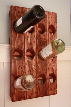 Great idea for wine bottles