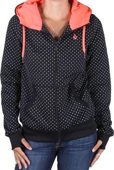 volcom // stone dot fleece full zip hooooodie // $74.95