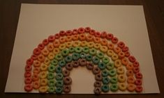 froot loops rainbow craft for kids