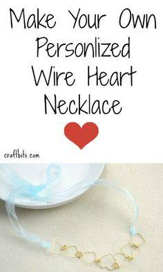 DIY Necklace: Wire Hearts Garland — craftbits.com