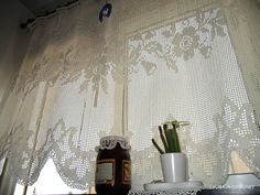 crocheted curtains - Google Search