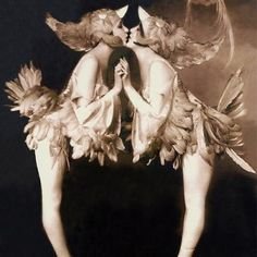 The Dolly Sisters decked out in bird costumes (costume ref for The Great Gatsby)