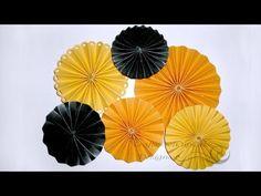 ▶ How to Make Paper Rosette Flower - Tutorial - YouTube