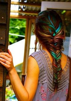 dye hair, hair colors, colorful hair, summer hair, rainbow hair