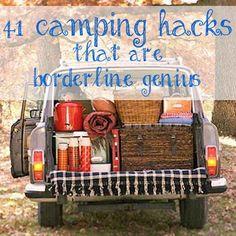adventur, 41 camping hacks, borderlin genius, camp hack, outdoor, camp idea, travel, place, thing