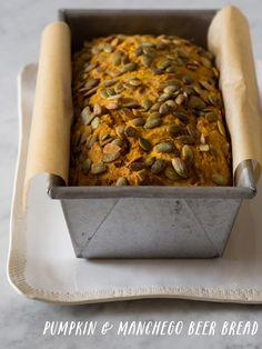 Pumpkin and Manchego Beer Bread