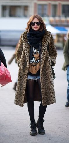 LOVE! The coat, the skirt, boots, shirt, scarf, its all perfect! Ah so sheek but yet so grunge!