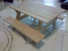 popsicle stick picnic table