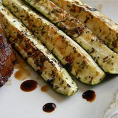 "Balsamic Grilled Zucchini | ""A simple, easy grilled zucchini with a touch of balsamic vinegar and spices."""