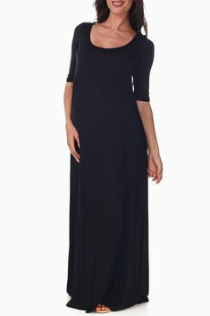 Black-Maternity-Maxi-Dress #maternity #fashion