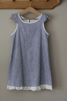 raw edge ruffle dress from carefree clothes for girls