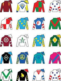 Derby on pinterest kentucky derby fashion silk and flags for Jockey silks template