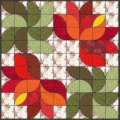 curved two-patch curv twopatch, drunkard path, drunkards path quilt pattern, patchwork grafika, curved piecing, curv piec, lotus patchwork, path block, flower