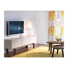 IKEA Fan Favorite: STOCKHOLM TV unit. Easily hide away cables by leading them between shelves and out the cable outlets on the underside of the bench. coffee tables, living rooms, ikea stockholm, tv stand, tvs, stockholm rug, live room, living room furniture, tv units
